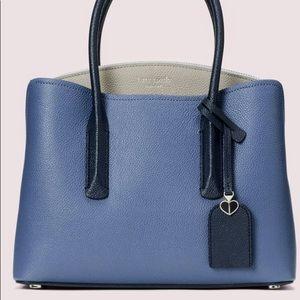 Kate Spade ♠️ Margaux Medium Satchel Bag Blue